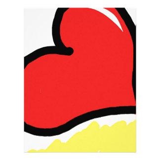 red happy heart letterhead design