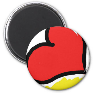 red happy heart magnet