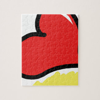 red happy heart puzzle