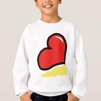 red happy heart sweatshirt