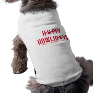Red Happy Howlidays Modern Typograhy Personalized Shirt