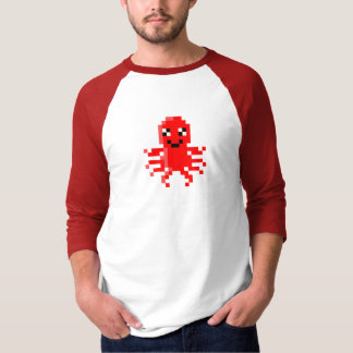 Red Happy Pixel Squid T-Shirt