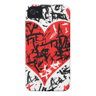 Red hart - Valentine's day pattern iPhone 4 Covers