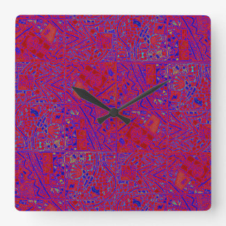 RED HAT ABSTRACT CLOCK