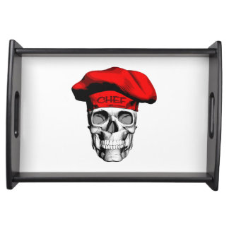 Red Hat Chef Skull Serving Platters