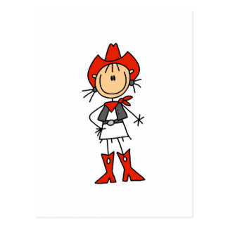 Red Hat Cowgirl Tshirts and Gifts Postcard