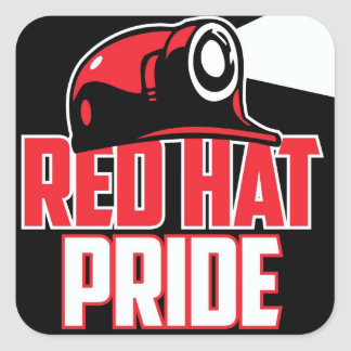 RED HAT PRIDE SQUARE STICKER