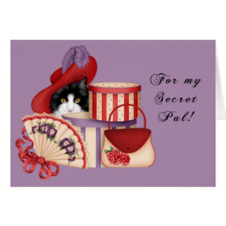 Red Hat Secret Pal Greeting Card