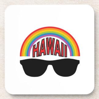 red hawaii shades coaster
