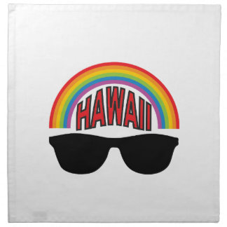 red hawaii shades napkin
