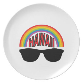 red hawaii shades plate