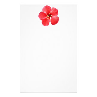 Red Hawaiian Hibiscus Flower Stationery