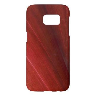 Red Hawaiian Leaf Close Up Samsung Galaxy S7 Case