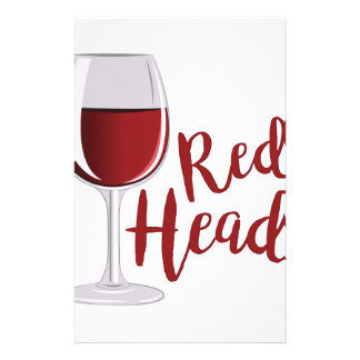 Red Head Customized Stationery