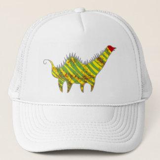Red head dinosaur trucker hat