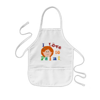 Red Headed Girls Painting Apron
