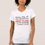 Red Headed Majestic Unicorn T-shirts
