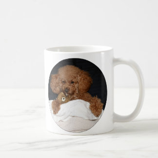 Red Headed Toy Poodle Mug - With Teddy Bear