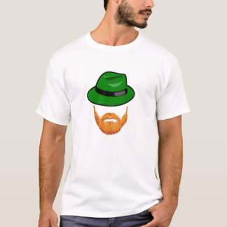 Red Heard Beard and Green Fedora T-Shirt