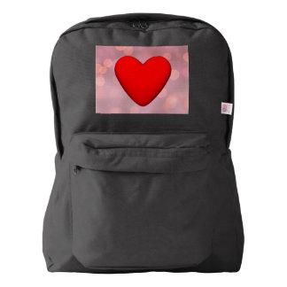 Red heart - 3D render Backpack