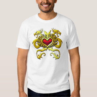 RED HEART AND DRAGONS TEES