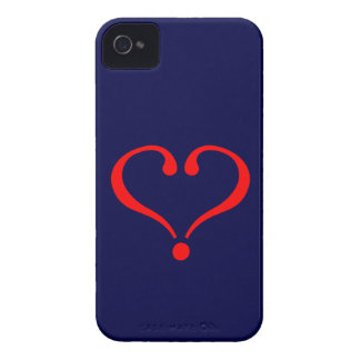 Red heart and love opened in day of San Valentin iPhone 4 Covers