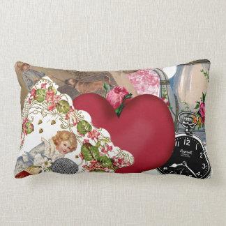 Red Heart and Paris Lumbar Pillow