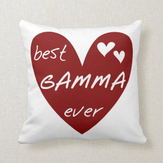 Red Heart Best Gamma Ever Gifts Throw Pillow