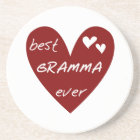 Red Heart Best Gramma Ever T-shirts and Gifts Coaster