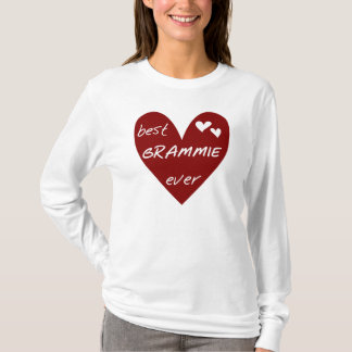 Red Heart Best Grammie Ever T-shirts and Gifts