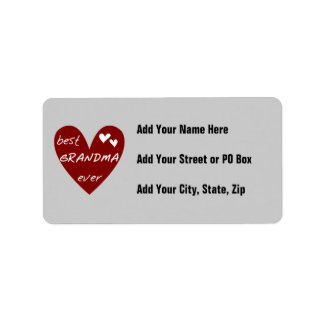 Red Heart Best Grandma Ever T-shirts and Gifts