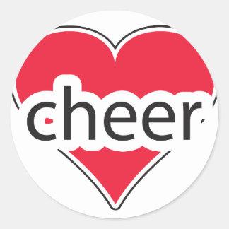 Red Heart Cheer Classic Round Sticker