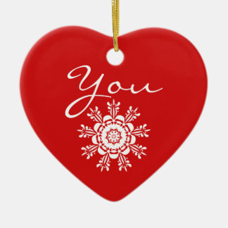 Red Heart Christmas Marriage Proposal Decoration