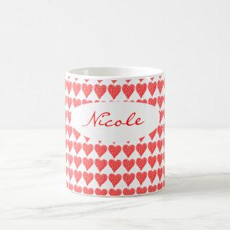 Red Heart Classic White Coffee Mug