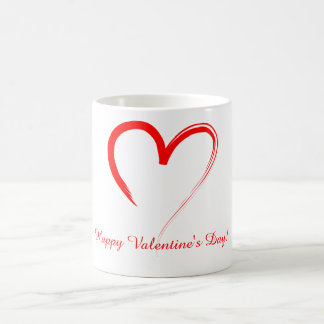 Red Heart Classic White Coffee Mug