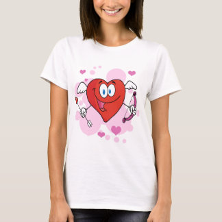 Red Heart Cute Cupid T-Shirt
