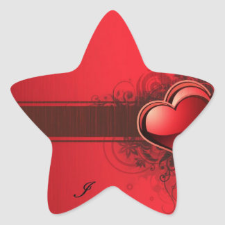 red heart design.ss star stickers
