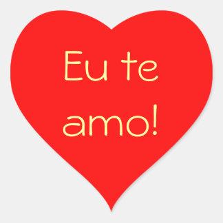 Red Heart Eu Te Amo sticker
