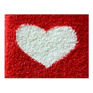 Red heart fabric save the date postcard knit plush