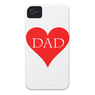 Red heart father's day gift Case-Mate iPhone 4 cases