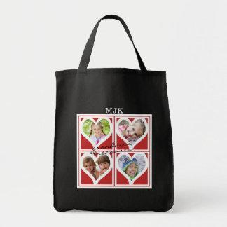 Red Heart Frames | Grandma's Treasures (editable) Tote Bag