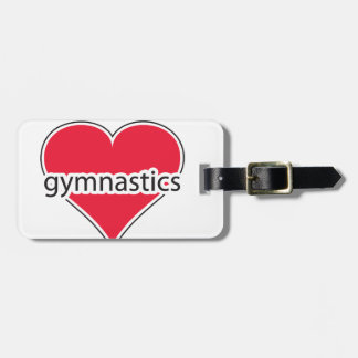 Red Heart Gymnastics Luggage Tag
