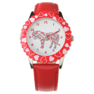 Red Heart Horse Pony Watch