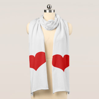 Red Heart Jersey Scarf