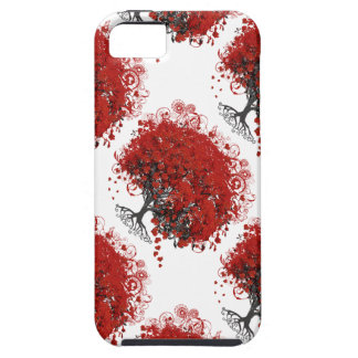 Red Heart Leaf Tree iPhone 5 Case