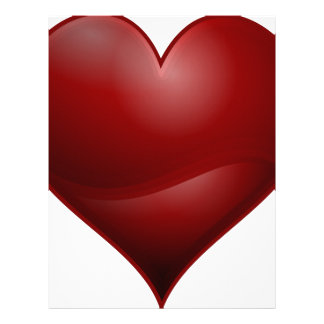 Red Love Valentine Hearts Letterhead Custom Red Love Valentine