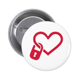 Red heart lock pins