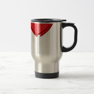 red heart lollipop travel mug