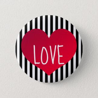 Red heart love 2 inch round button