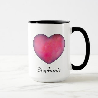 Red Heart Love Coffee Mug